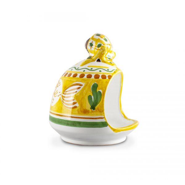 portaspugna bambola decoro zoo in ceramica di Vietri Solimene Art (3)