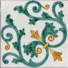Piastrelle con decoro Albori in ceramica di Vietri Solimene art (2)