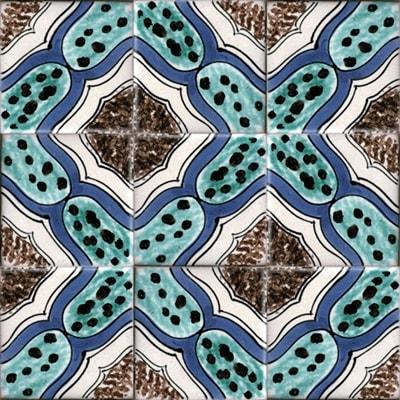 Piastrelle con decoro Cetara in ceramica di Vietri Solimene art