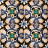 Piastrelle con decoro Erchie in ceramica di Vietri solimene art