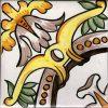 Piastrelle con decoro Minori in ceramica di Vietri solimene art