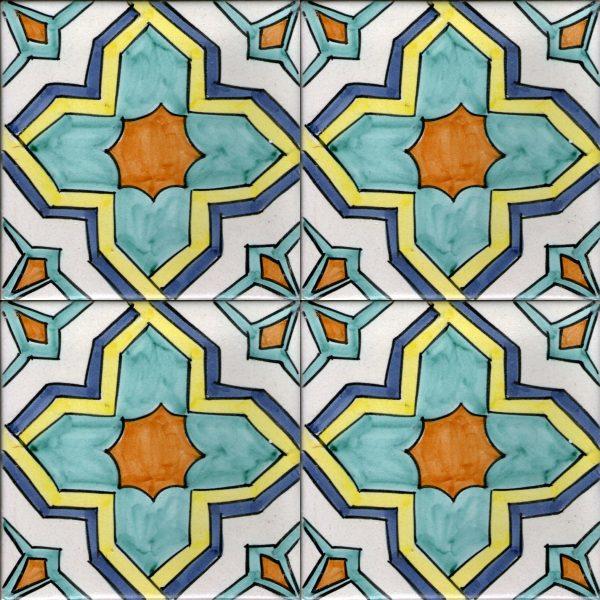 Piastrelle con decoro Positano in ceramica di Vietri solimene art (2)