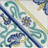 Piastrelle con decoro Raito in ceramica di Vietri solimene art