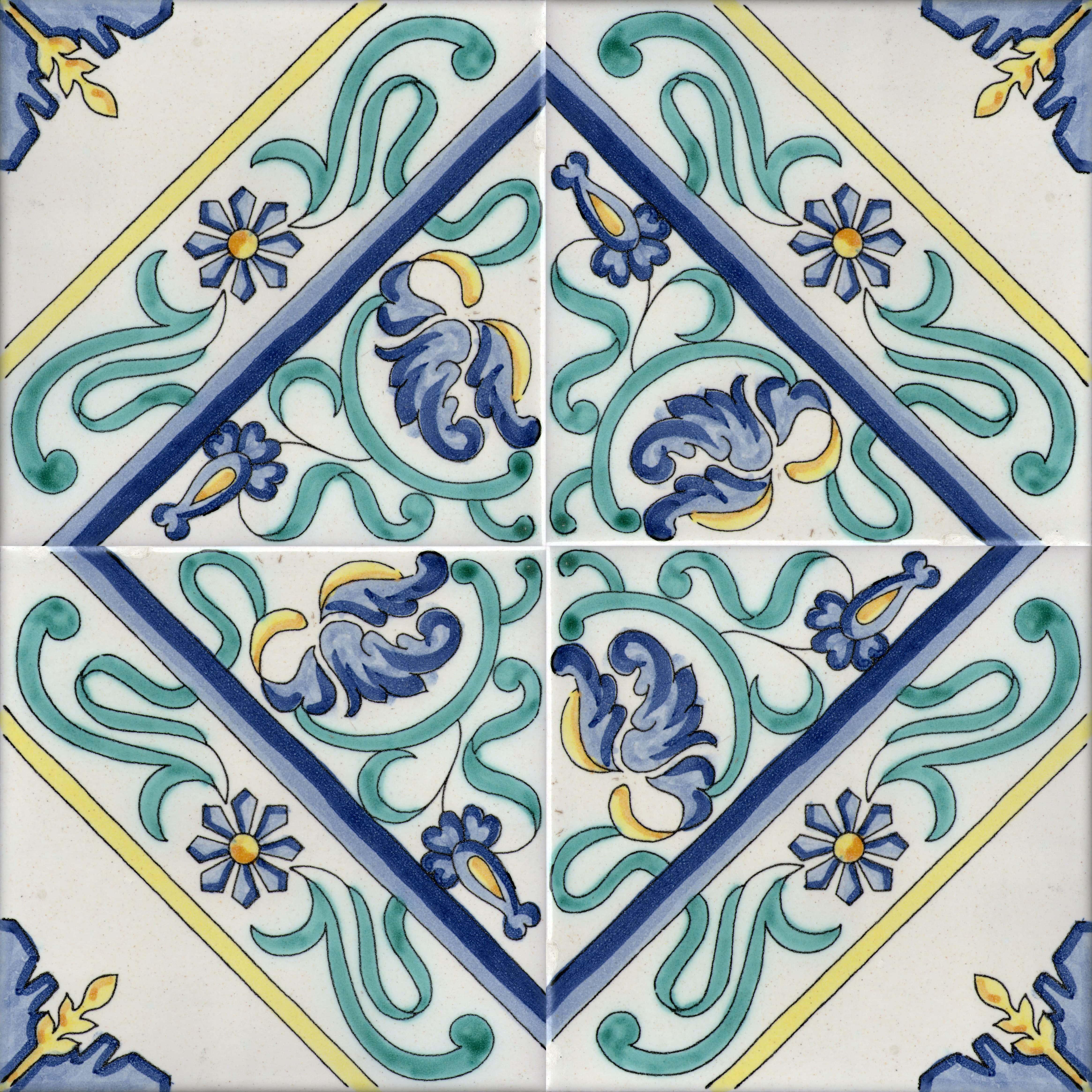 Piastrelle con decoro Raito in ceramica di Vietri > SolimeneArt