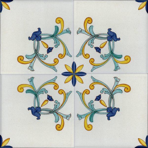 Piastrelle con decoro San Michele in ceramica di Vietri Solimene art (2)