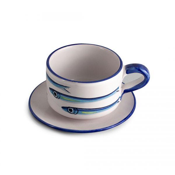 tazza tè alici fondo bianco ceramica di vietri solimene art (2)