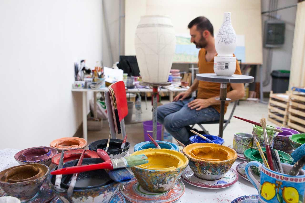 Arredo casa in ceramica di vietri solimeneart for Arredo casa oggettistica