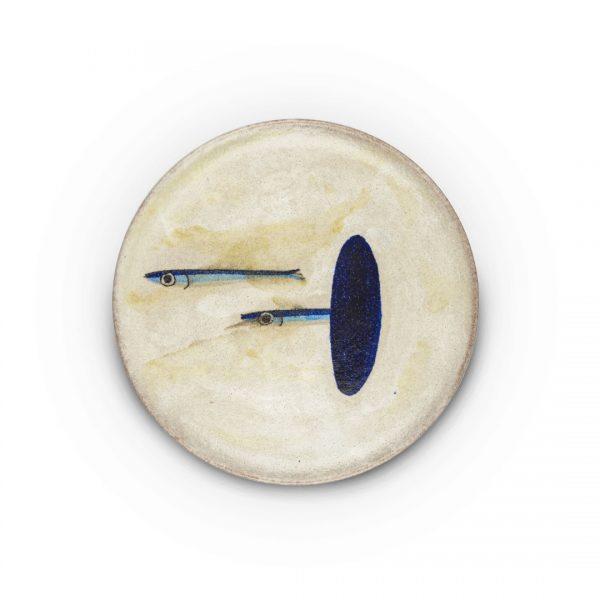 piatto murale decoro alici in ceramica di Vietri Solimene Art (3)
