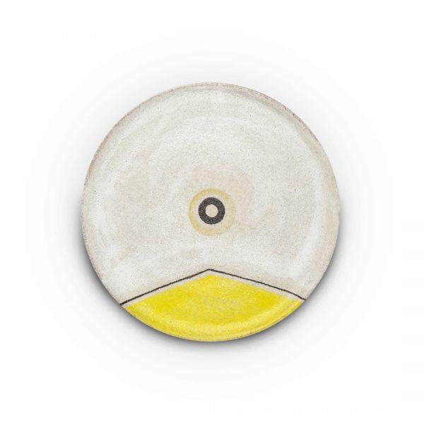 piatto murale decoro segni in ceramica di Vietri Solimene art