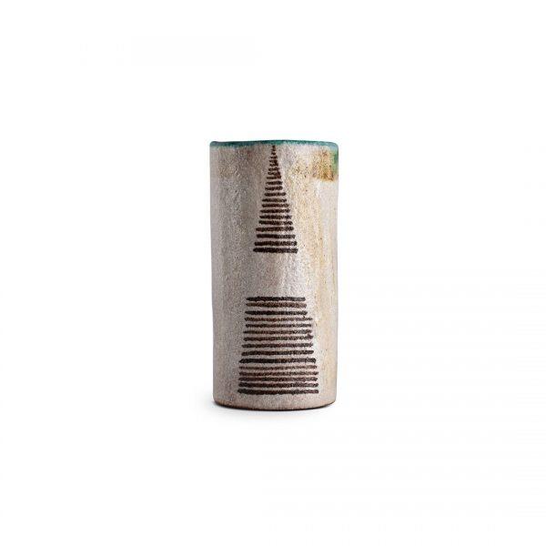 Vaso decoro Segno Regolare in ceramica di Vietri Solimene art