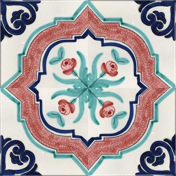 Piastrelle con decoro Sorrento in ceramica di Vietri solimene art