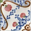 Piastrelle con decoro Tramonti in ceramica di Vietri solimene art