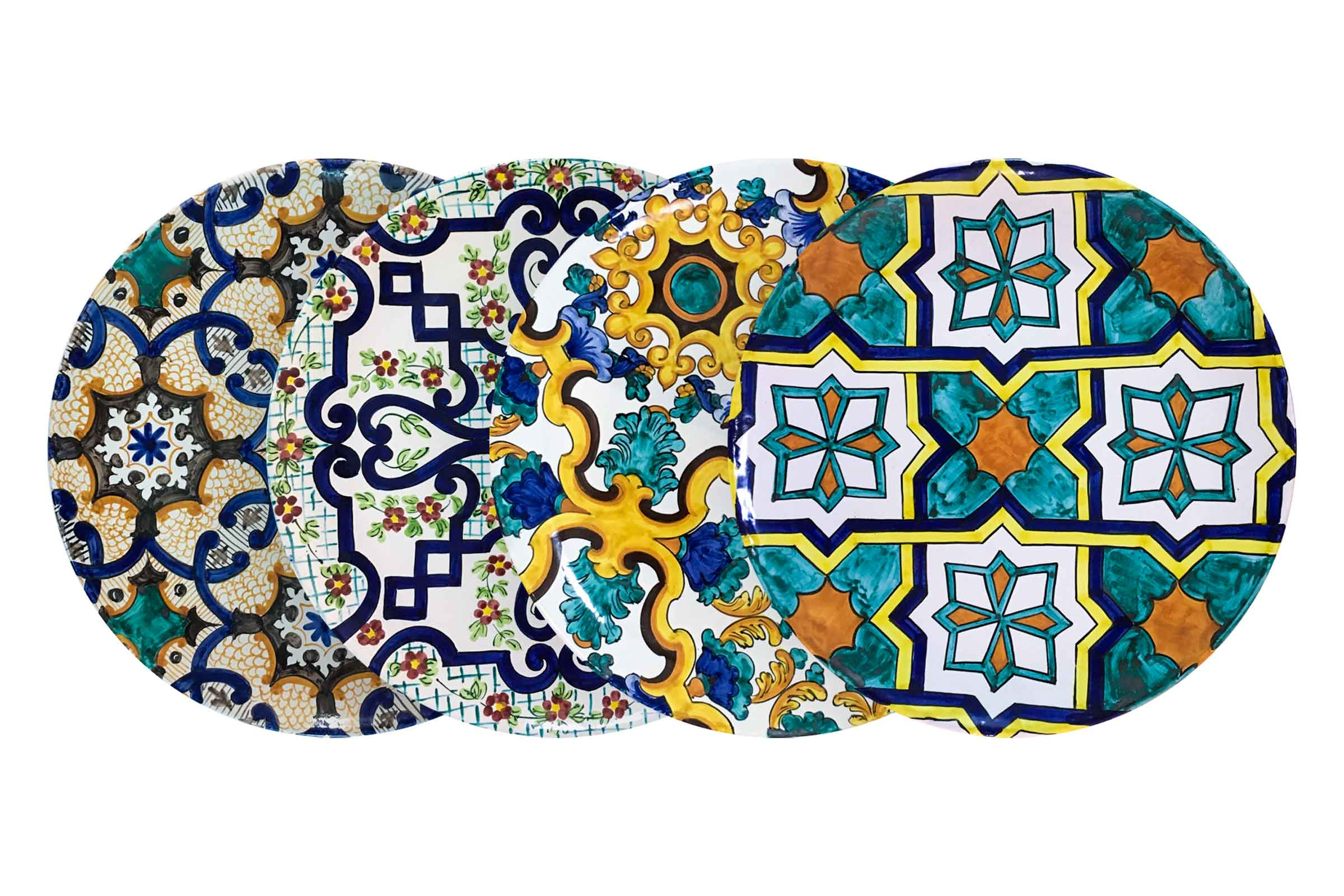 Decorazioni Piatti Da Portata.Piatti E Decorazioni Murali In Ceramica Di Vietri Solimeneart