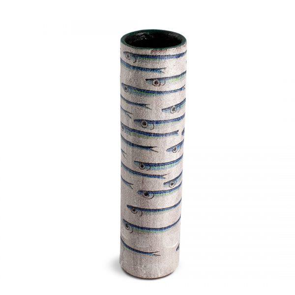 Vaso decoro Alici in ceramica di Vietri VC 1040 cod.04 solimene art