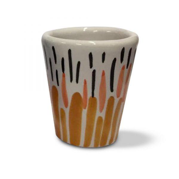 bicchierini per limoncello decoro new style in ceramica di vietri (5)
